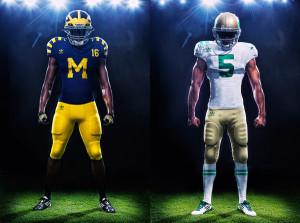 adidas-football-2011-college-retro-jerseys-michigan-notre-dame-under-the-lights-uniform